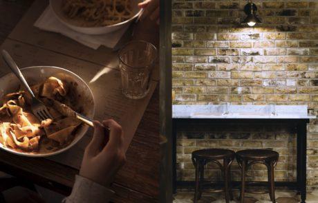 Fresh pappardelle bolognese Italian rustic pasta restaurant St Katharine Docks